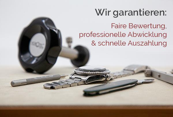 Wir garantieren faire Bewertung, professionelle Abwicklung und schnelle Auszahlung
