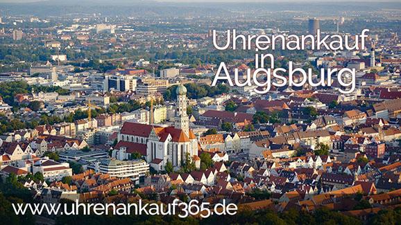 Uhrenankauf in Augsburg (Foto der Altstadt, Luftaufnahme)