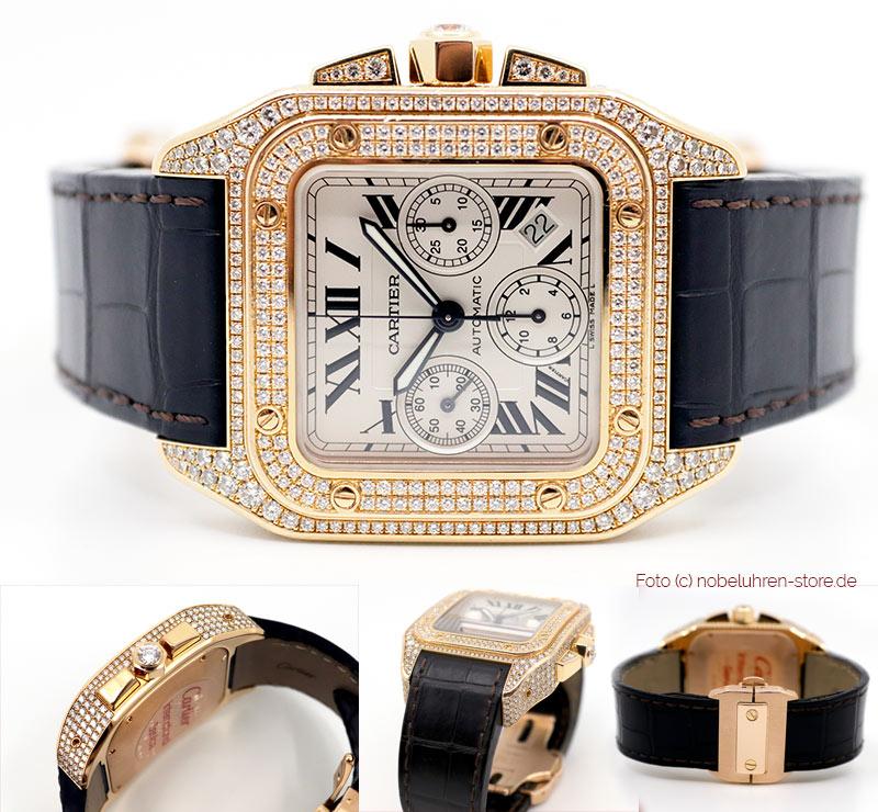 Cartier Santos Joaillerie 100 XL
