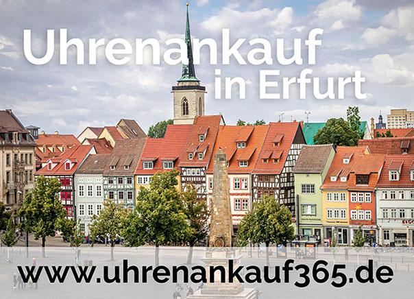 Die Altstadt von Erfurt - auch hier bieten wir online den Ankauf von Luxusuhren an.