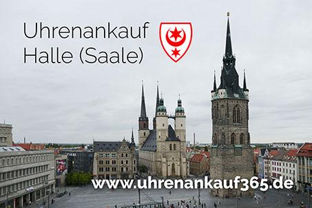 Uhrenankauf Halle-Saale - das Foto zeigt die schöne Innenstadt (Marktplatz)