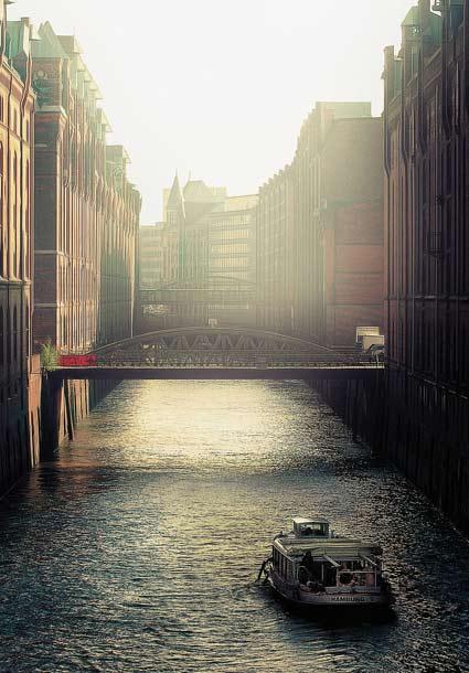 Speicherstadt Hamburg im Nebel