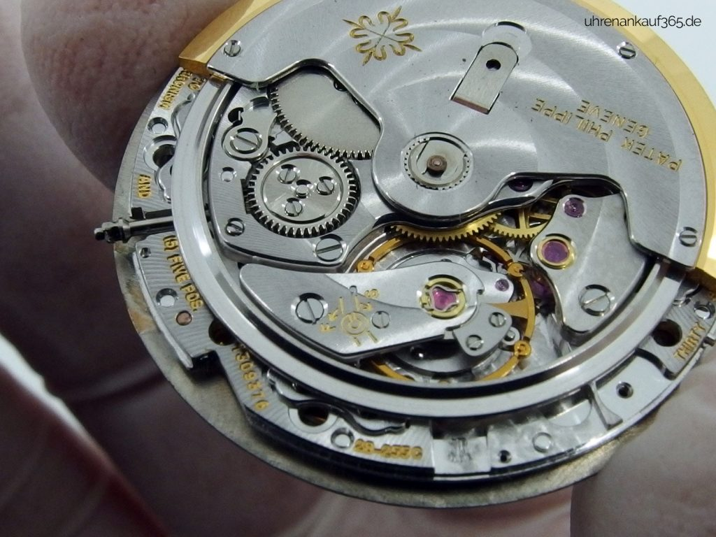 Uhrwerk-Details einer Patek Philippe Nautilus