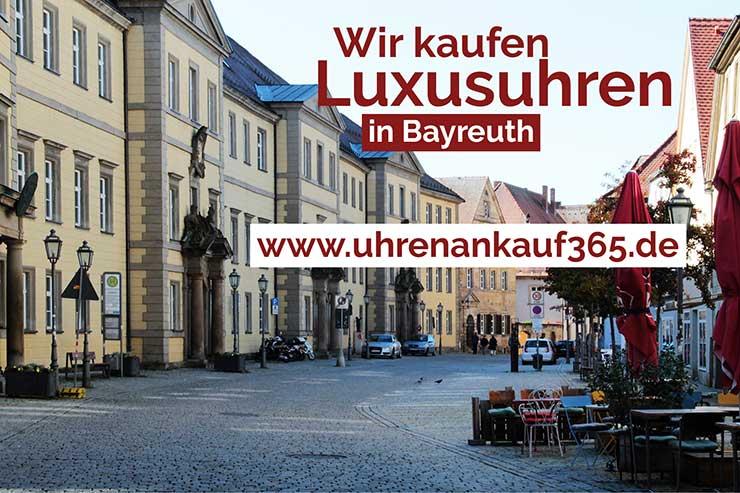 Innenstadt von Bayreuth - hier kaufen wir Luxusuhren an.
