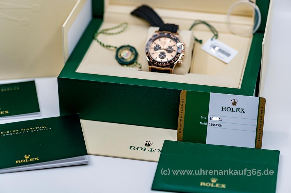 Ankauf von Rolex Daytona im Komplett-Set