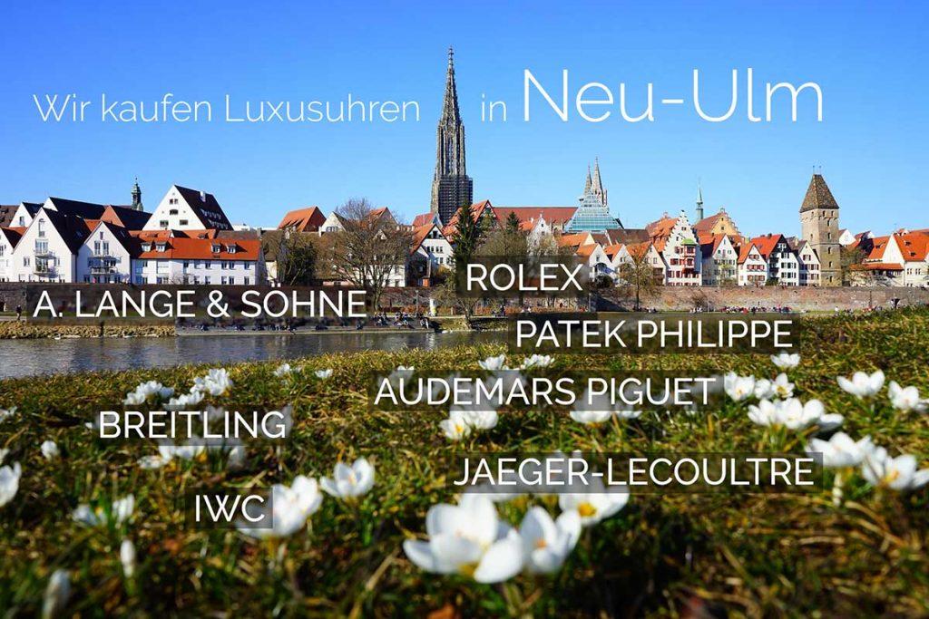 Wir kaufen Luxusuhren in Neu-Ulm (Rolex, A. Lange & Söhne, Patek Philippe, Audemars Piguet, Jaeger-LeCoultre, IWC)